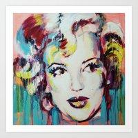 Merylin Monroe Cinema An… Art Print