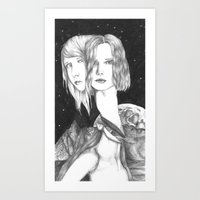space ladies Art Print
