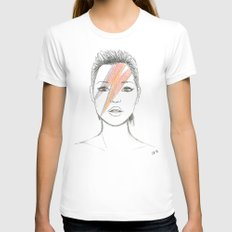 Moss X Bowie Womens Fitted Tee White SMALL