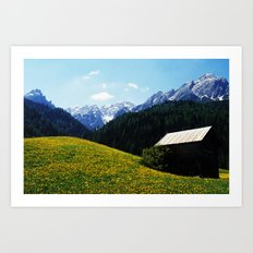 Somewhere in South Tyrol Art Print