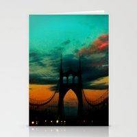 Bridge To Portland - St.… Stationery Cards