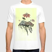 Uprooted Flowers Mens Fitted Tee White SMALL