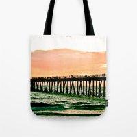 Hermosa Pier (1) Tote Bag