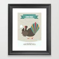 Merry Christmas - Going … Framed Art Print