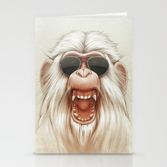 The Great White Angry Monkey Stationery Card