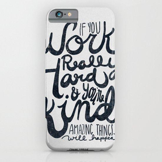 Work Really Hard iPhone & iPod Case