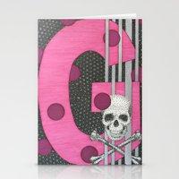 Pink Skull G Stationery Cards