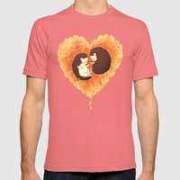 Hibernate With Me Mens Fitted Tee Pomegranate SMALL