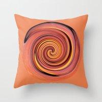 Peach Twirl Throw Pillow
