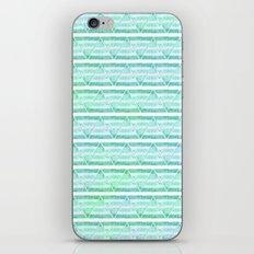 chevron blue&green iPhone & iPod Skin