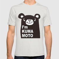 I'm KUMAMOTO JAPAN Mens Fitted Tee Silver SMALL