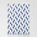 Pyramid lines Stationery Cards