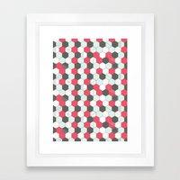 Hexagons Pattern Framed Art Print