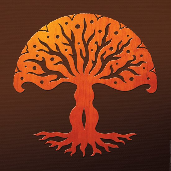 Tree of Life Woodcut Art Print