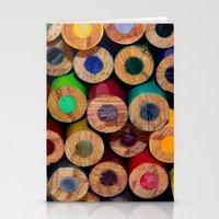 Colored Pencils Part II Stationery Cards