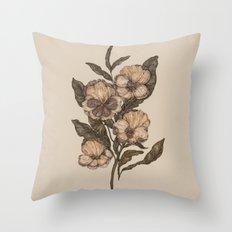 Pansy Throw Pillow