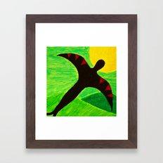 The Birdman On A Solo Fl… Framed Art Print
