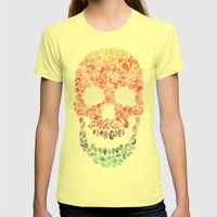 Death By Paisley Womens Fitted Tee Lemon SMALL