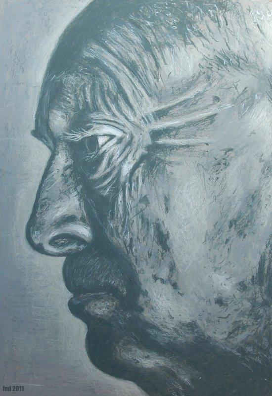 vladimir nabokov-grey scale Canvas Print