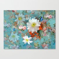 Romantic Flowers And But… Canvas Print