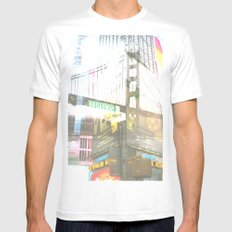SF to NY Mens Fitted Tee White SMALL