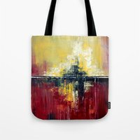 Shanghai - Textured abstract painting Tote Bag
