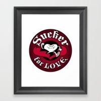 Sucker For Love Too Framed Art Print