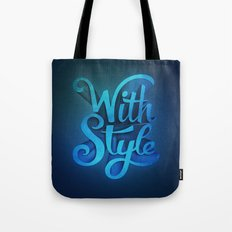 With Style! 3D Typography  Tote Bag