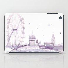 Watercolor landscape illustration_London Eye iPad Case