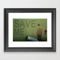 save me Framed Art Print