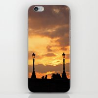 A sunset in Paris iPhone & iPod Skin