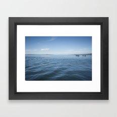 deep and away Framed Art Print
