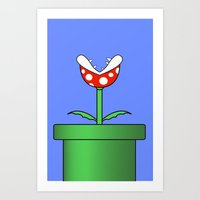 Minimalist Piranha Plant Art Print