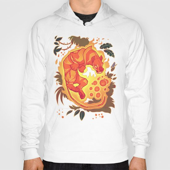 Fire Tiger with Berries Hoody