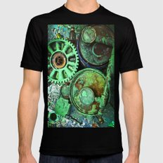 COMPLICATED TEXTURES Mens Fitted Tee SMALL Black