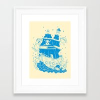 Piratas from outer space Framed Art Print