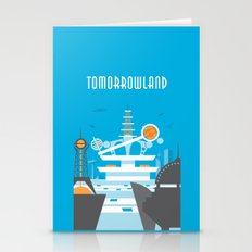 Tomorrowland Travel Poster Stationery Cards