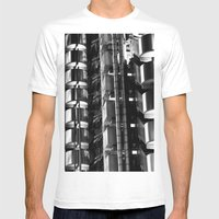Lloyd's of London Abstract Mens Fitted Tee White SMALL