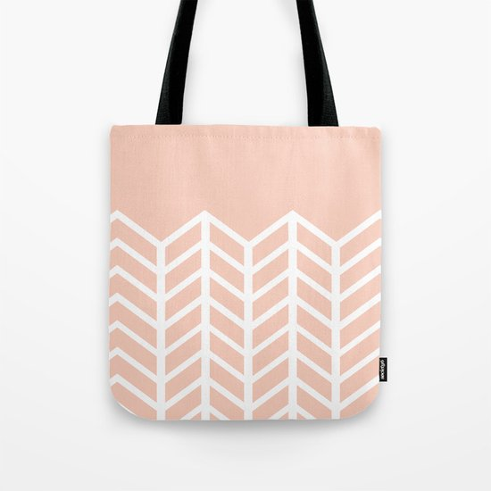 LACE CHEVRON (PEACH) Tote Bag