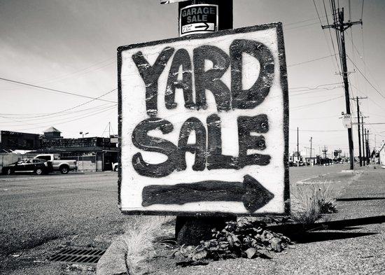 Yard sale sign Art Print