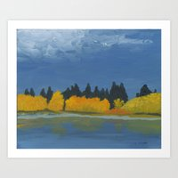 Jumbo Lake in the Fall 2015 Art Print