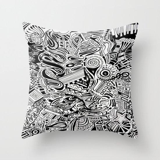 Inky \\ Throw Pillow