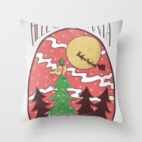 Hello Santa Throw Pillow