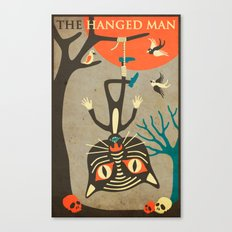 Tarot Card Cat: The Hang… Canvas Print