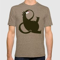 amp-bear-sand poster Mens Fitted Tee Tri-Coffee SMALL