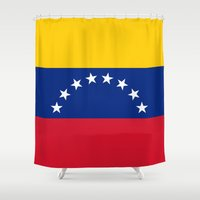 The national flag of the Bolivarian Republic of Venezuela -  Authentic version Shower Curtain