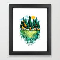 Geo Forest Framed Art Print
