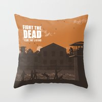 The Walking Dead Prison Walkers Throw Pillow