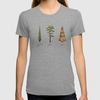 Fur Tree Womens Fitted Tee Tri-Grey SMALL