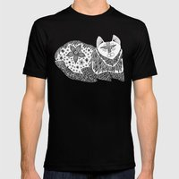 Relaxi-Cat Mens Fitted Tee Black SMALL